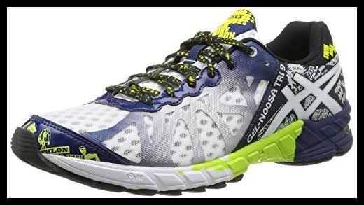 ASICS Gel-Noosa Tri 9, Men Training Running Shoes, Blue (0149-White/Navy/Flash Yellow), 9 UK (44 EU)