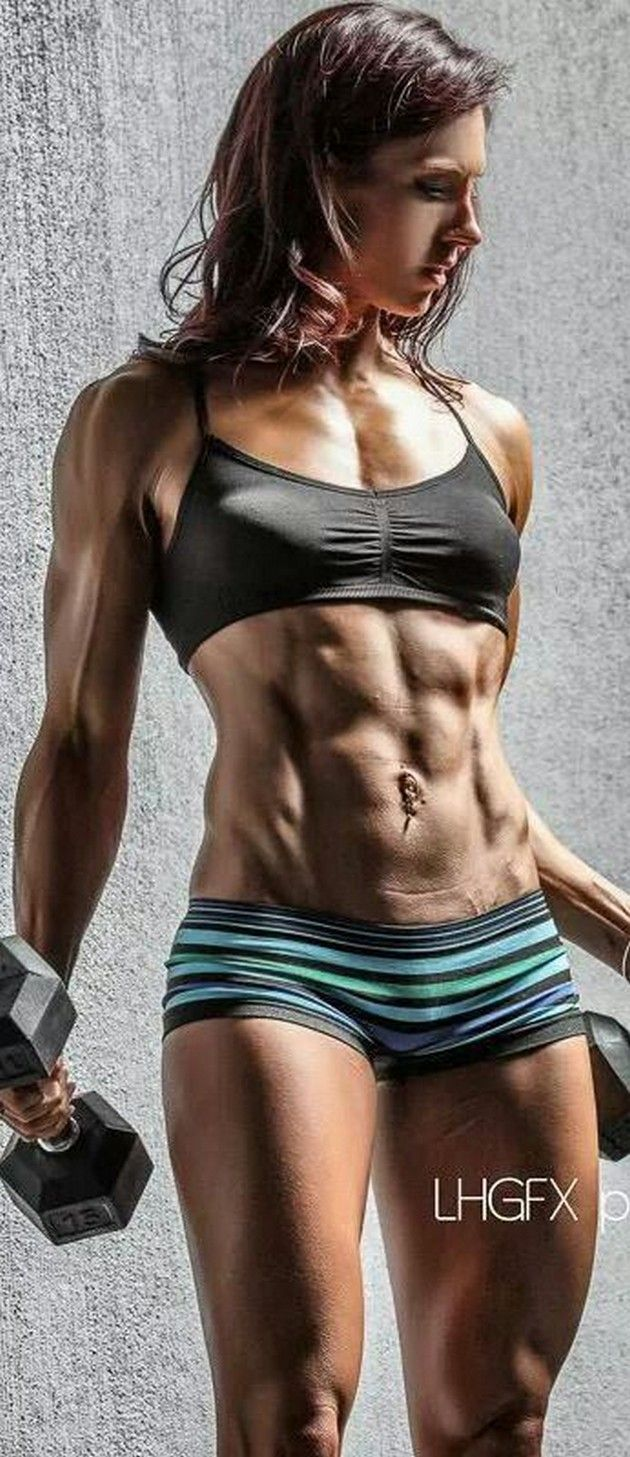 girl with hard abs