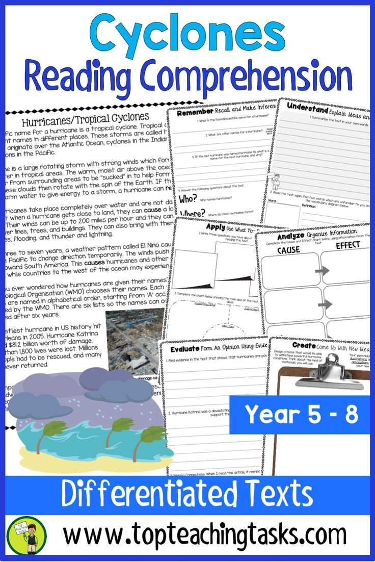 Cyclones Reading Comprehension Passages And Questions Your Upper Primary Students W Reading Comprehension Passages Reading Comprehension Comprehension Passage