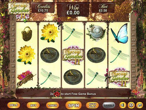 Play Secret Garden II Slots @ Moon Games