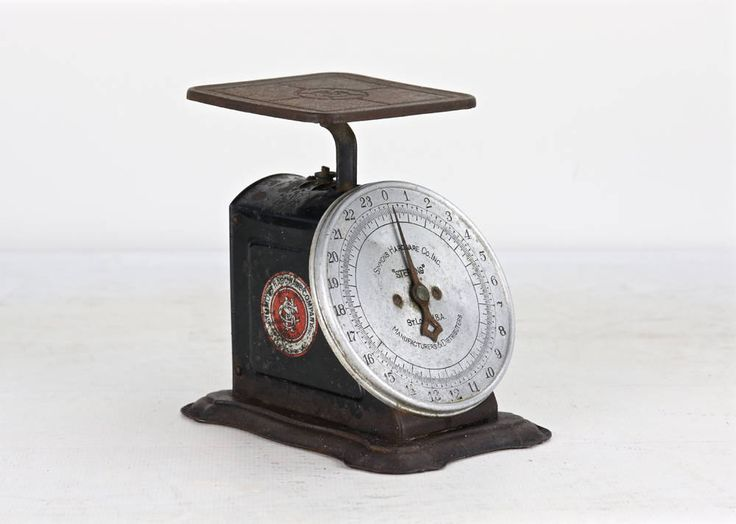Vintage Kitchen Scale, Antique Scale, Black Scale, Rustic Kitchen Scale, Vintage Scale, Rusty Old Scale, Farmhouse Decor, Old Scale by HuntandFound on Etsy