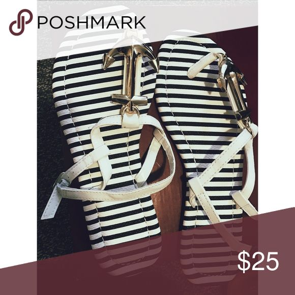 NWOT Preppy Anchor Sandals Super cute! I got these as a gift but never worn! Great to pair with anchor shorts! Super preppy :) Shoes Sandals