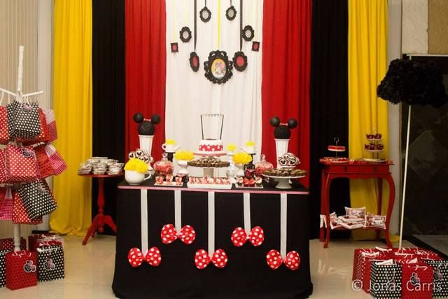 Minnie Mouse Birthday Party Ideas   Photo 7 of 14