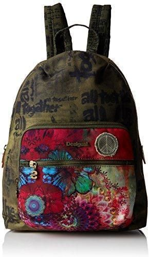 Oferta: 52.95€. Comprar Ofertas de Desigual Lima Woodstock - Bolso mochila  para mujer Verde Green (Verde Militar) barato. ¡Mira las ofertas!
