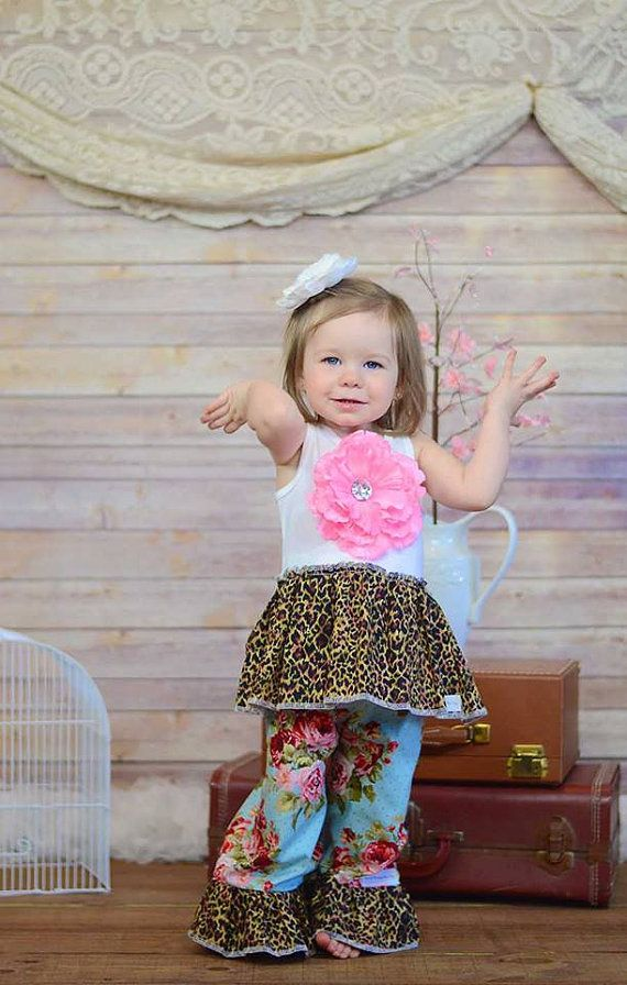 a83589b891bf6 GIRLS BOUTIQUE OUTFIT Animal print and by HeavenlyBlessingsBow ...