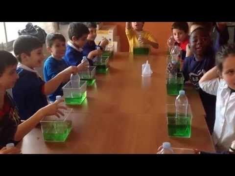 Esperimenti di scienze - L'aria occupa uno spazio - YouTube