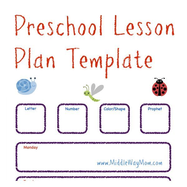 make preschool lesson plans to keep your week ready for fun activities