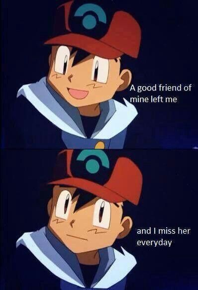 Awww Ash misses Misty :) Pokemon love