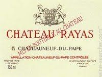 Chateau Rayas Chateauneuf-du-Pape Reserve, Rhone, France label