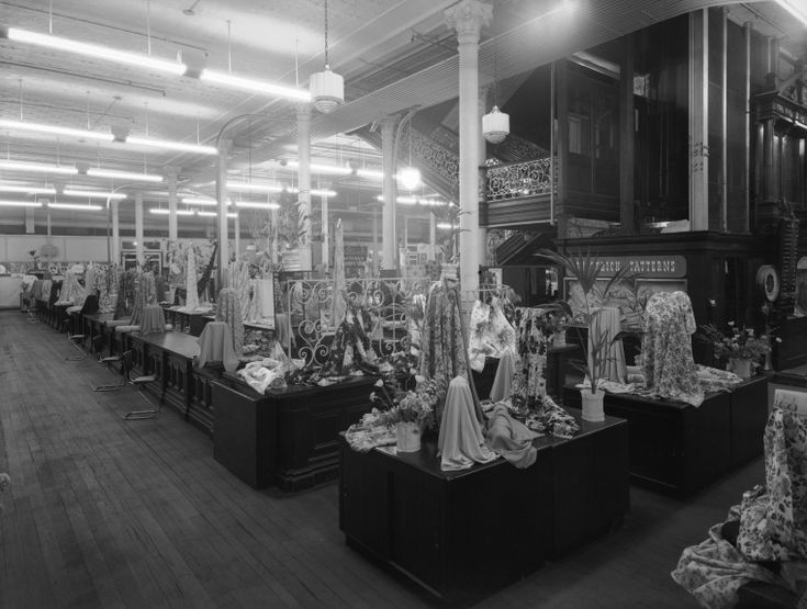 234396PD: Boans fabric department, ca. 1950.  http://encore.slwa.wa.gov.au/iii/encore/record/C__Rb2285309__S234393PD__Orightresult__U__X3?lang=eng&suite=def