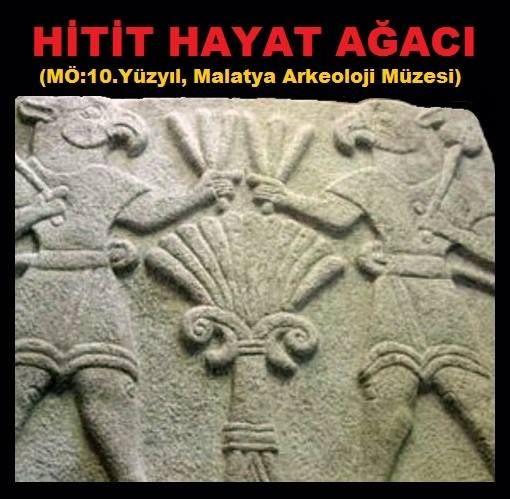 HİTİT HAYAT AĞACI RÖLYEFİ Malatya, Orduzu, Aslantepe Höyüğünde kazı yapan İtalyan arkeologlar tarafından 2010 yılında bulundu. Kartal başlı iki kral, Hayat Ağacı üzerinde birbirlerine barış çubukları uzatıyor