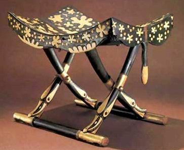 Furnishings in Ancient Egypt (A folding stool from the Tomb of Tutankhamun)