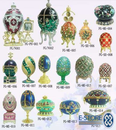 Faberge Eggs.  I have seen several of these. Mostly in Chrysler Museum in Richmond, VA.
