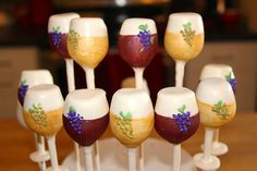 wine themed cakes pops | Babycake cake pops and No Bake Truffle recipes on Pinterest | 485 Pins