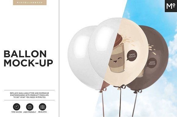 Baloon Mock-up by Mocca2Go/mesmeriseme on @creativemarket