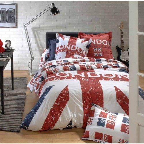 Plus de 1000 id es propos de chambre ado sur pinterest for Housse de couette drapeau anglais