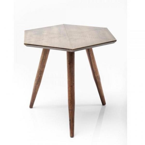 Odkládací stolek Tangram 50x50 cm - zlatý