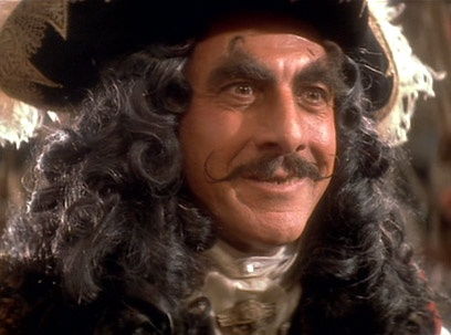 """Hook is my ALL TIME FAVORITE """"evil"""" character. And Dustin Hoffman's Hook is my favorite one :). He's so fancy!!!"""