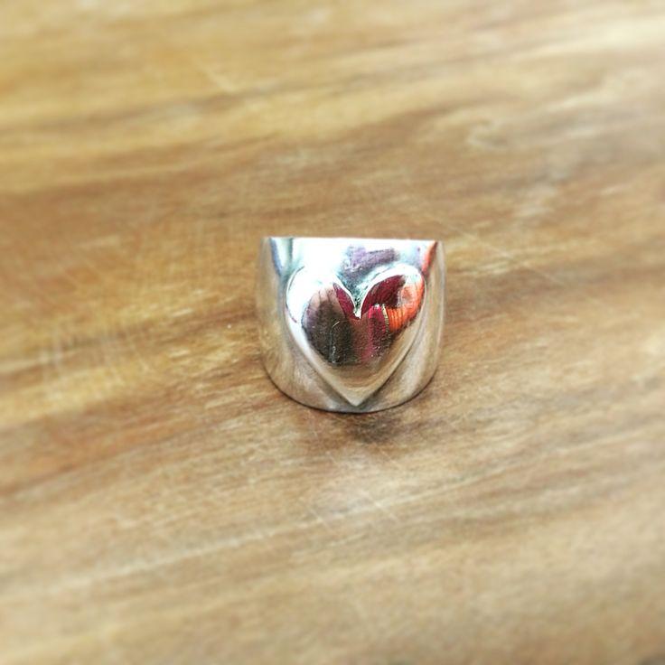 #ring #anello #cuore #argento #madeinitaly #artigianato # handmade #love #pato #patojewels #best #fascia #jewellery #jewel #gioiello #gioielli #amore #regalo