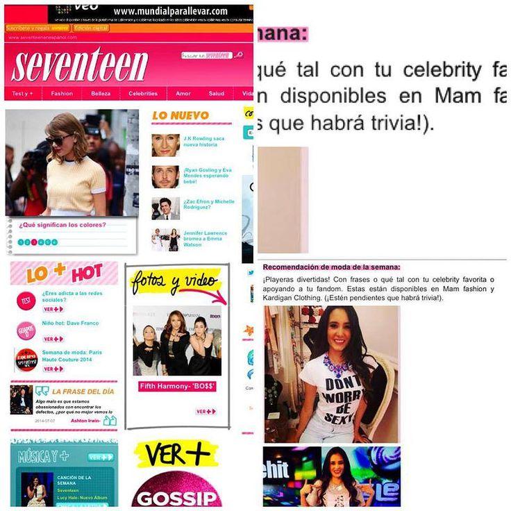 La revista Seventeen junto con la actriz Barbara Islas hacen una dinámica basada en nuestros productos.