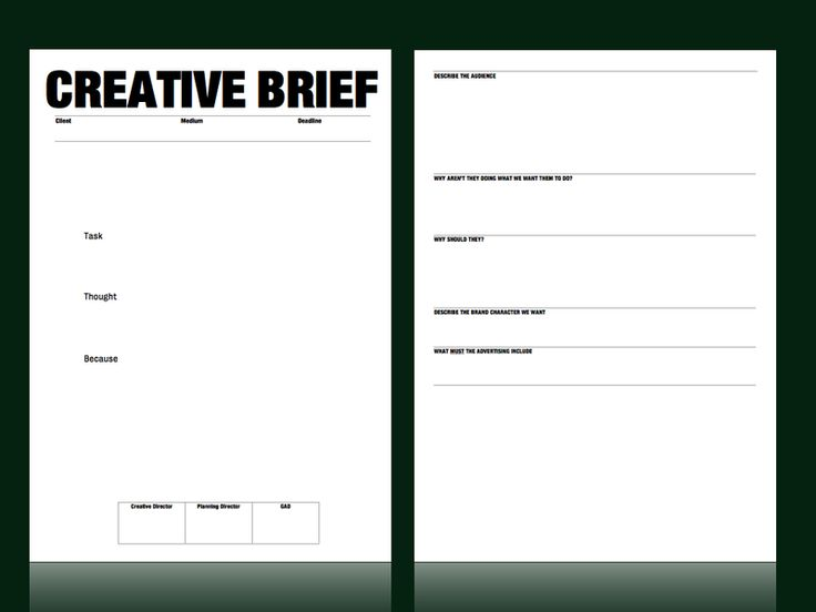 Creative brief template from m c saatchi account for Ogilvy creative brief template