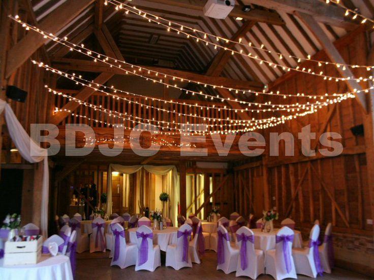 Wedding fairy light canopy