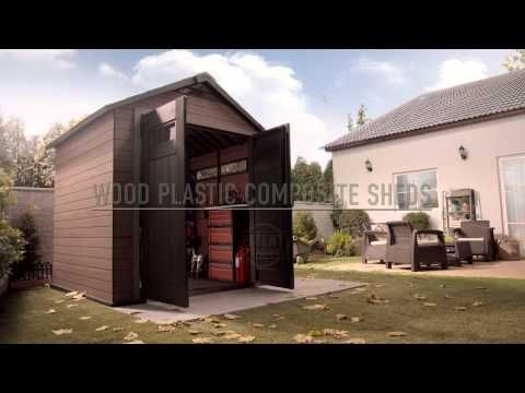 Wood Plastic Composite Shed: Keter Fusion