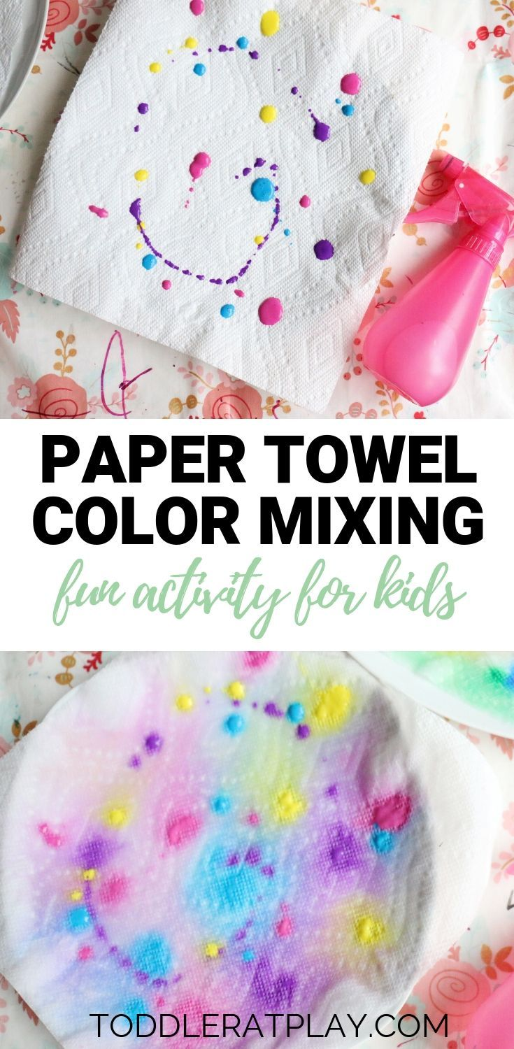 Paper Towel Color Mixing