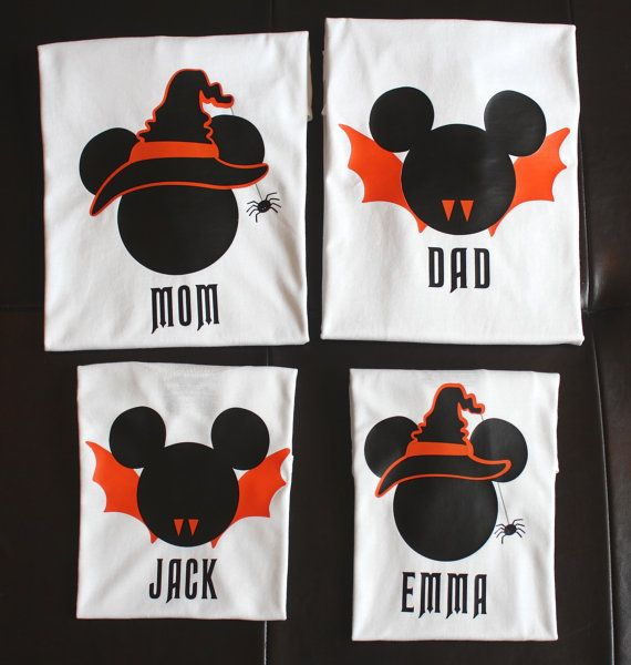 Disney Halloween Shirts Minnie and Mickey by ALittleExtraMagic