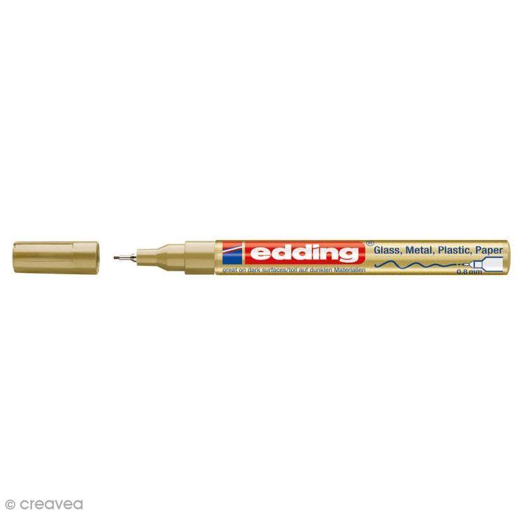 Compra nuestros productos a precios mini Rotulador pintura multisuperficies Edding 780 - Dorado - Punta 0,8 mm - Entrega rápida, gratuita a partir de 89 € !