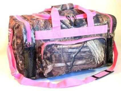 "Amazon.com: Mossy Oak Pink Camouflage Duffle Bag 20"" Luggage Set: Sports & Outdoors"