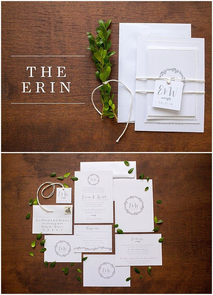 Minimalistic Wedding Invitation // shopsaltandpaperie.com/pages/bridal-collection