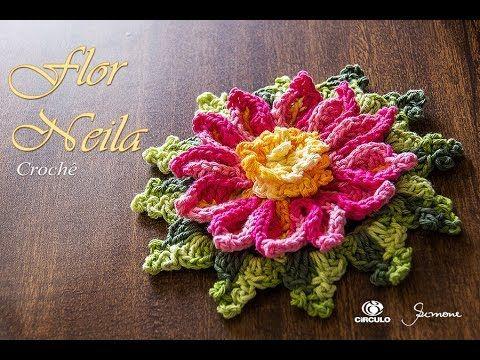 Flor em Crochê - Neila Dalla Costa - Professora Simone