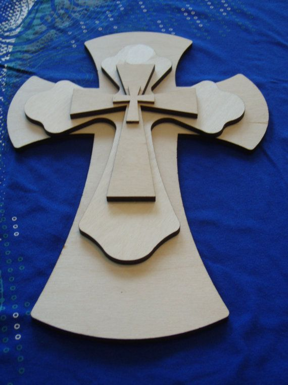 Unfinished Wood Layered Wood Crosses by ArtisticCraftSupply