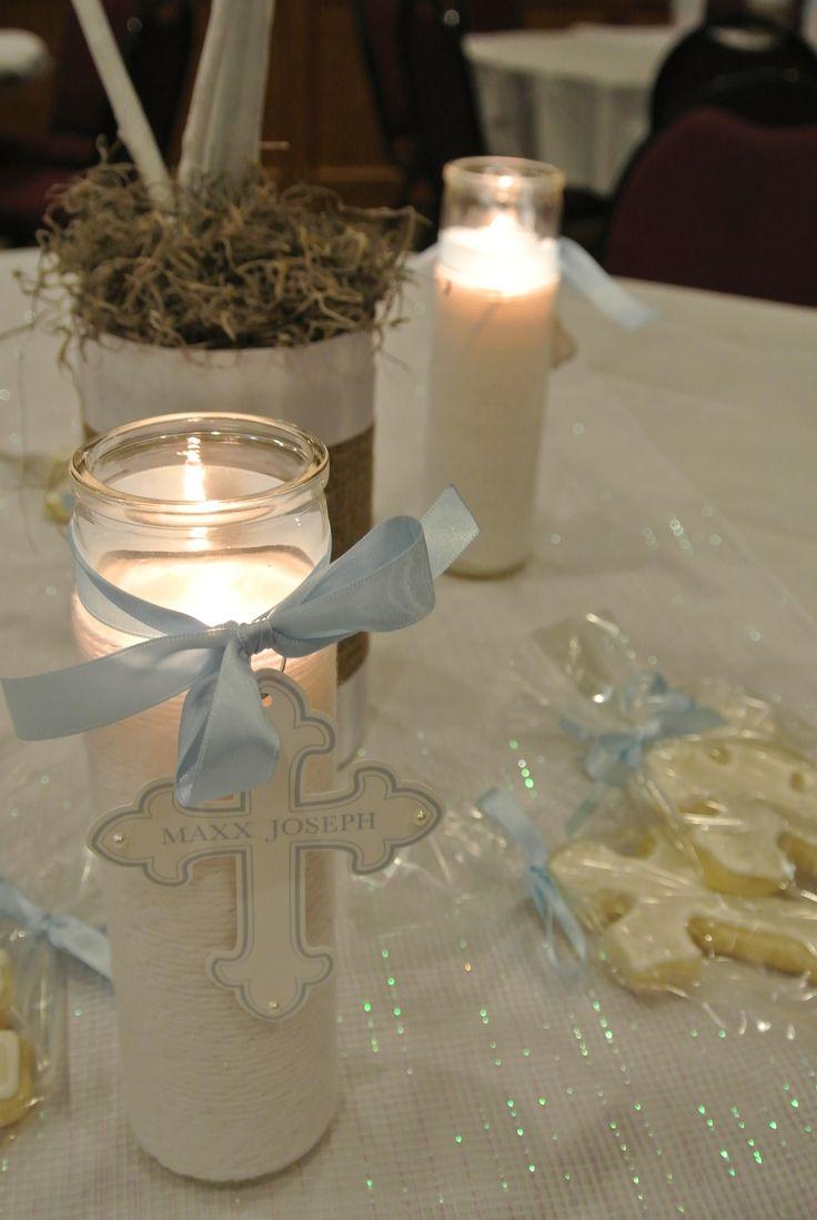 17 best ideas about boy baptism centerpieces on pinterest boy baptism decorations baptism - Simple baptism centerpieces ...