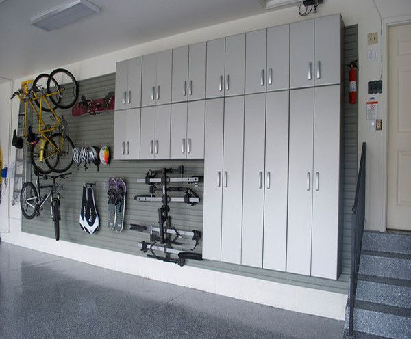 Get your stuff up off the floor with FLOW WALL Storage Solution.