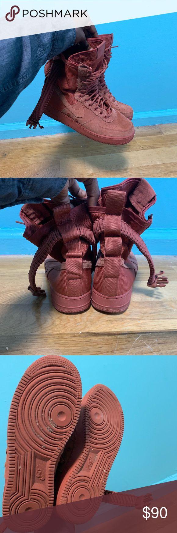 Dusty Peach Nike SF Air Force 1 Combat boots, Nike, Air