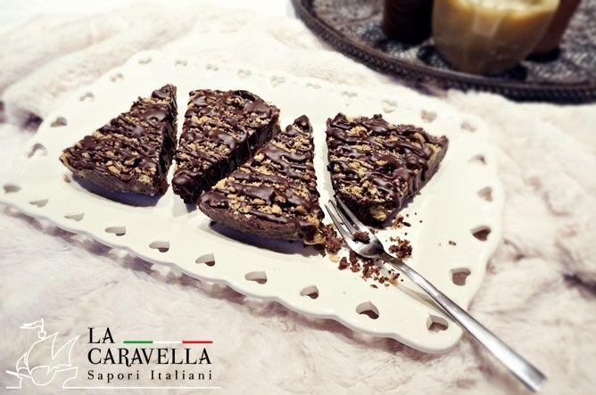 Blok czekoladowo-orzechowy z ciasteczkami