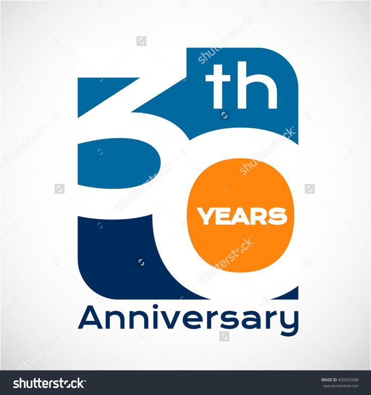 30 th years anniversary with square shape