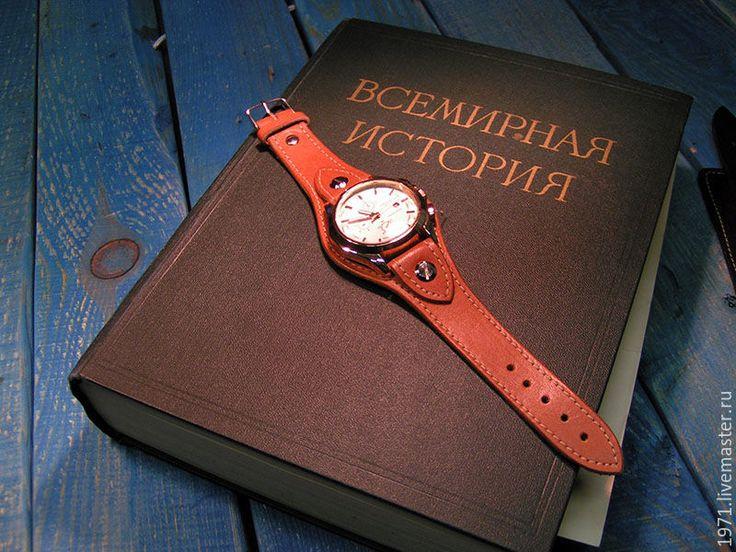 Купить ремешок для часов - комбинированный, время, Браслет ручной работы, ремешок для часов, ремешок на часы