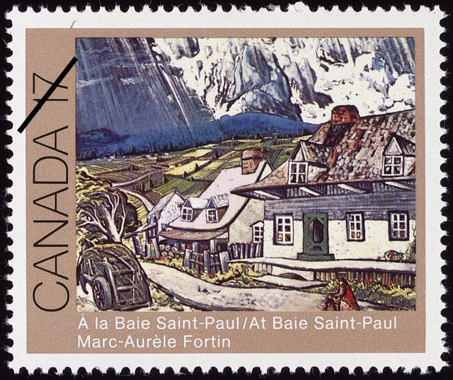 FORTIN, Marc-Aurèle Stamp from Canadian Postal Archives Database
