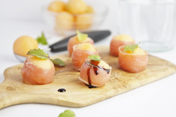 Prosciutto Wrapped Melon Balls | from @Paula - bell'alimento