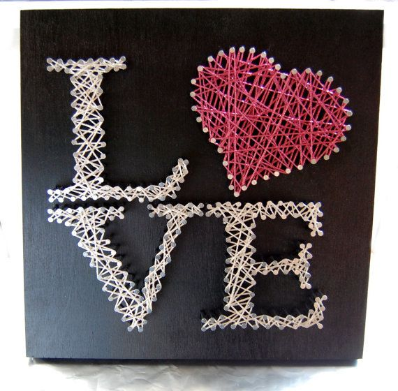 Love String Art Custom Wall Art by OrgaknitsbyBrielle on Etsy, $35.00