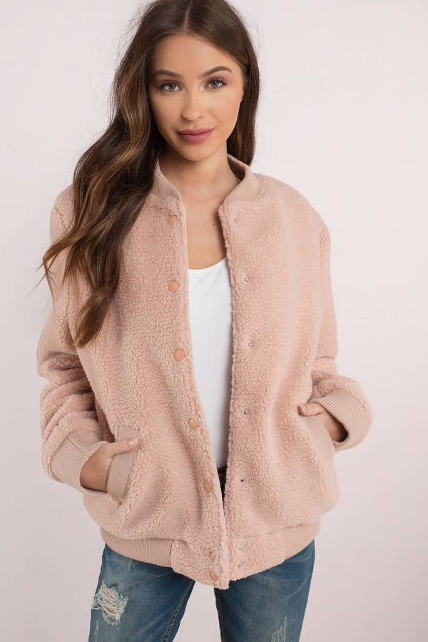 0a49866f3aa4 The Fifth Label Jamie Blush Bomber Jacket
