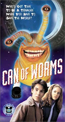 Can of Worms (1999) TV PG  -   A teen is visited by aliens after he broadcasts a message into space.  -   Director: Paul Schneider  -   Writers: Kathy Mackel (teleplay), Kathy Mackel (based on the book by)  -   Stars: Michael Shulman, Erika Christensen, Adam Wylie  -  COMEDY / FAMILY / SCI-FI
