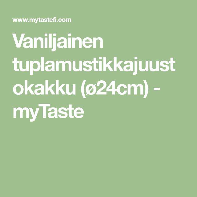 Vaniljainen tuplamustikkajuustokakku (ø24cm) - myTaste