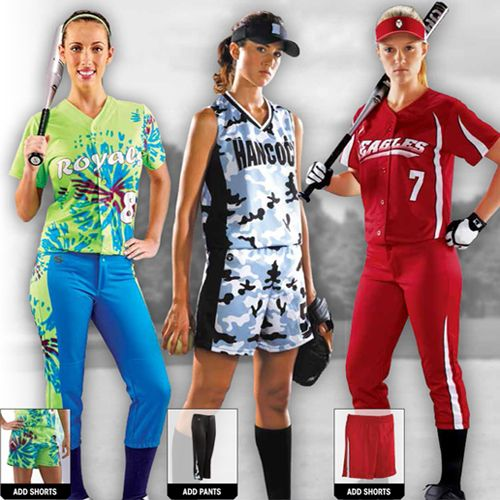 Softball outfits / uniforms for you and your team!