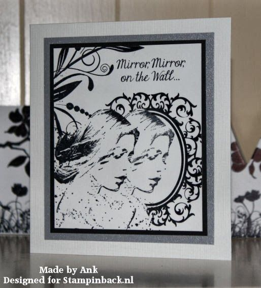 Stamped card with Stampinback rubber stamps, made by Ank de Back for Stampinback.nl