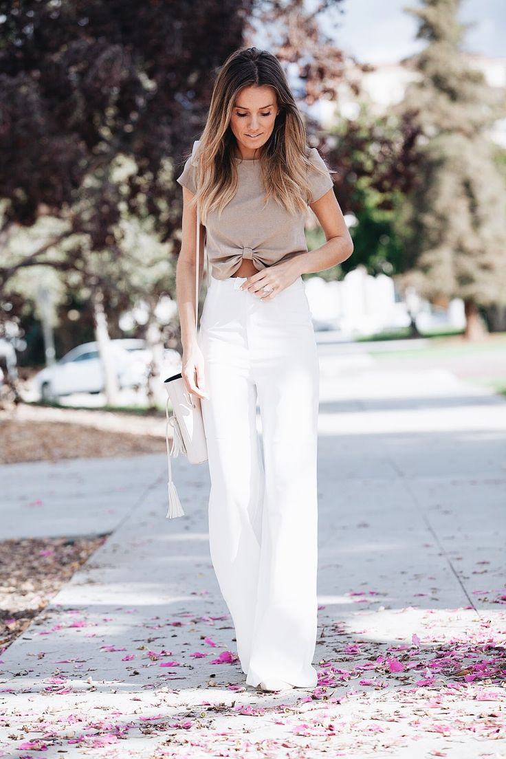 How to wear wide-leg pants.