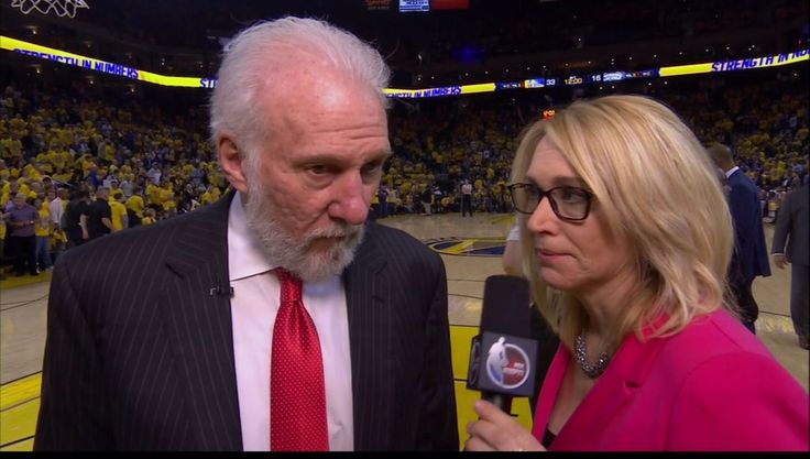ESPN's Doris Burke accomplished the seemingly impossible  she stunned the NBA's biggest curmudgeon Gregg Popovich